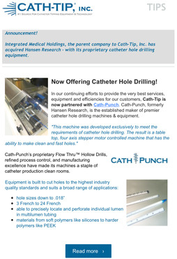 catheter tipping advice newsletter sept 2016